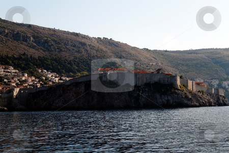 Cliff Side Fort stock photo, A fort built onto the cliff side of Dubrovnik, Croatia by Kevin Tietz