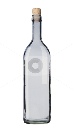 Empy bottle. stock photo, Empty bottle isolated, white background, clipping path. by Pablo Caridad