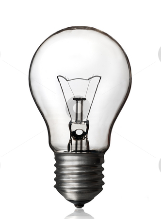 Light bulb, white backgroun. stock photo, Light bulb isolated white background, clipping path. by Pablo Caridad
