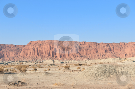 Cliff, Moon Valley, San Juan, Argentina. stock photo, Cliffs in Ischigualasto or Moon Valley natural park, San Juan, Argentina. UNESCO world heritage site, and a major touristic destination. by Pablo Caridad