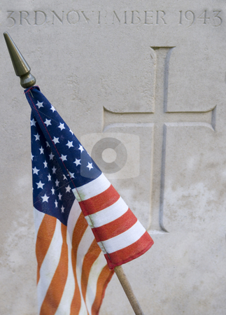 Cemetery stock photo, Closeup of a tombstone at a military Cemetery of the second worldwar in Belgium by Jo De Vulder