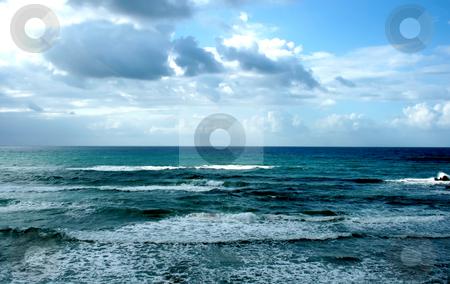 Winter Mediterranean sea stock photo, Winter Mediterranean sea in Bat-Yam, Israel by Tatjana Keisa