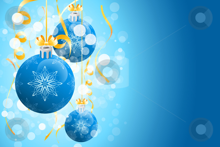 Christmas background with sparkles stock vector clipart, Christmas background with sparkles and Christmas balls for your design by Vadym Nechyporenko
