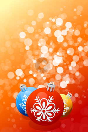 Christmas background stock vector clipart, Red Christmas background with Christmas balls and sparkles by Vadym Nechyporenko