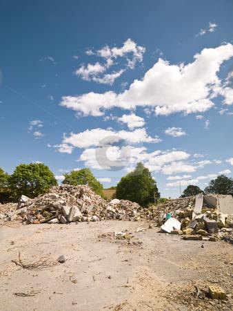 Demolished Neighbourhood stock photo, Demolished Neighbourhood on a sunny day by Anne-Louise Quarfoth