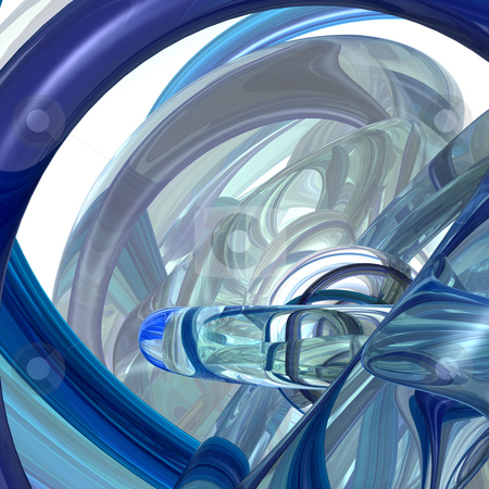 Scifi stock photo, Abstract futuristic background - 3d illustration by J?