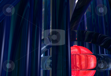 Futuristic stock photo, Abstract futuristic background - 3d illustration by J?