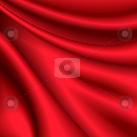 Red silk background stock vector clipart, Vector illustration of red silk background by Laurent Renault