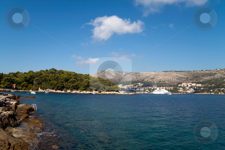 Cost of Dubrovnik stock photo, The beautiful coastline of Dubrovnik, Croatia by Kevin Tietz