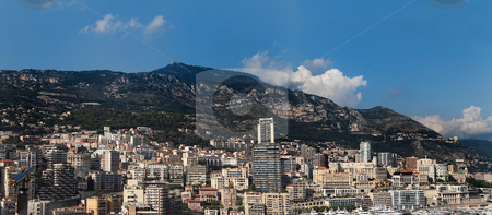 Monaco Panorama stock photo, The skyline and harbor of downtown Monaco by Kevin Tietz