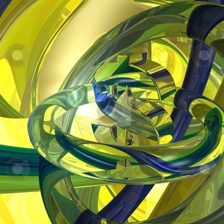 Dollar stock photo, Abstract futuristic background with dollar symbol - 3d illustration by J?