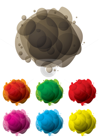 Bubble mess stock vector clipart, Abstract colourful bubble icon with transparency and shadow by Michael Travers