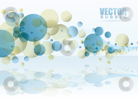 Eainbow subtle white stock vector clipart, White subtle bubble background with reflection in surface by Michael Travers