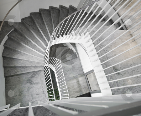 Retro Staircase stock photo, Staircase with retro Architecture by Anne-Louise Quarfoth