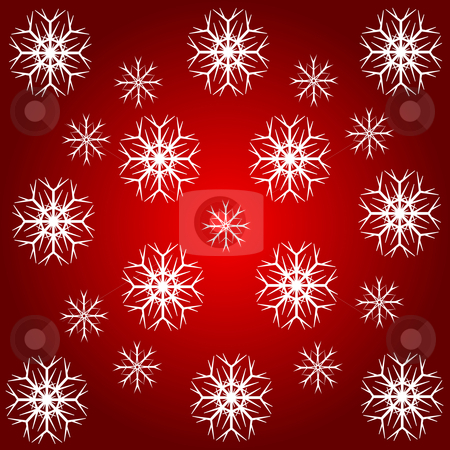 An abstract snowflake background  stock vector clipart, An abstract snowflake background which can be tiled by Mike Price