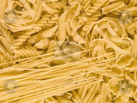 Pasta stock photo, Full Frame of Pasta by Anne-Louise Quarfoth