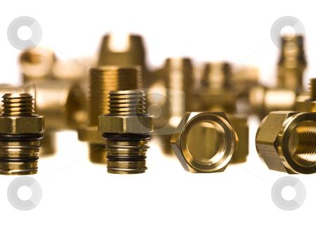 Heating and sanitation screws stock photo, Lots of Heating and sanitation screws by Anne-Louise Quarfoth