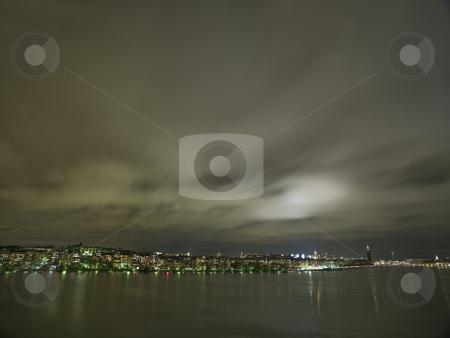 Stockholm City skyline stock photo, Stockholm City Skyline at night by Anne-Louise Quarfoth