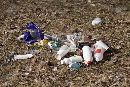 Garbage dump stock photo, Garbage dump in nature by Anne-Louise Quarfoth
