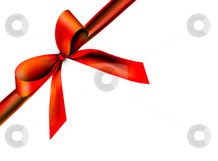 Beautiful, red ribbon stock photo, A red ribbon with a knot isolated on white by Viktor Thaut