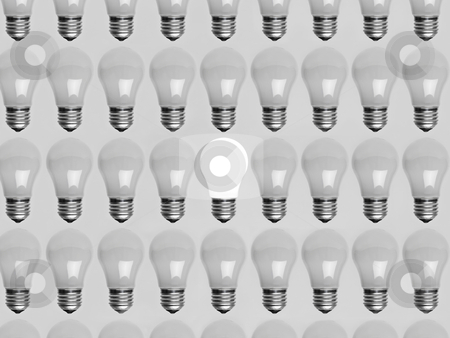Collage of light bulbs stock photo, Collage of light bulbs by Anne-Louise Quarfoth
