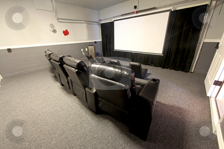 Theatre Room stock photo, A Theatre Room interior in a House by Lucy Clark