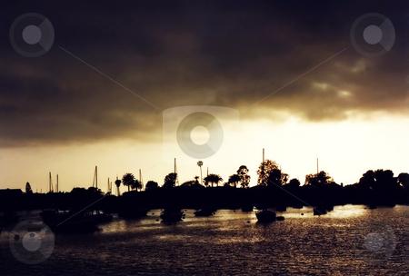 Newport stock photo, Sunset over Newport Beach, California. by Mary Lane