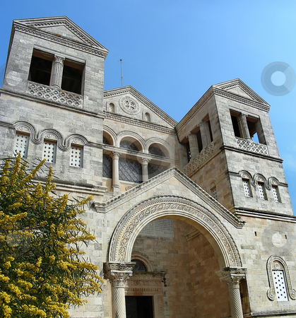 Mount Tabor stock photo, The Church of the Transfiguration on Mount Tabor, Israel. by Mary Lane