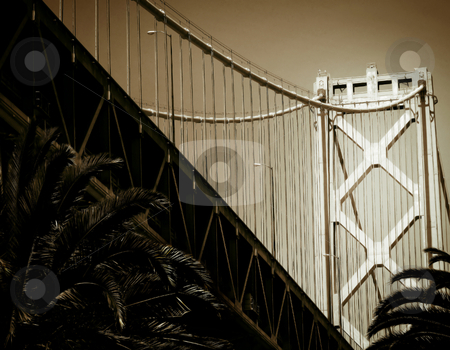 Bay Bridge stock photo, A view of San Francisco's Bay Bridge, from below by Mary Lane