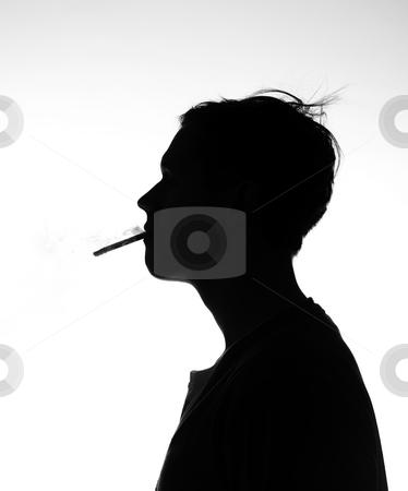A man smokeing stock photo, A man smokeing by Anne-Louise Quarfoth