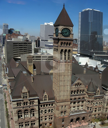 Old City Hall stock photo, A high vantage point view of Old City Hall, Toronto, Ontario, Canada by Mary Lane