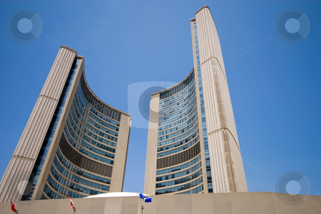 Toronto City Hall stock photo, The spectaular curves of Toronto City Hall, Toronto, Ontario, Canada. by Mary Lane