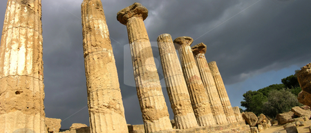 Temple of Hercules stock photo, Ruins of the Temple of Hercules, Agrigento, Sicily. by Mary Lane