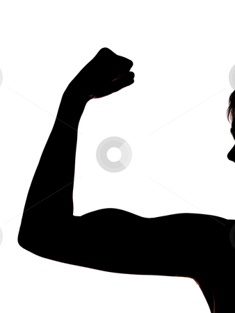 female middle finger silhouette