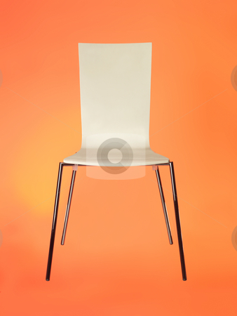 Chair against red stock photo, Chair against red by Anne-Louise Quarfoth