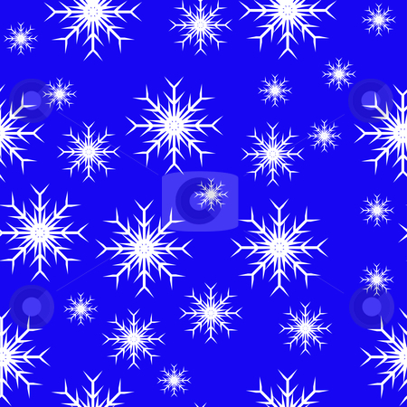 Christmas 77 stock vector clipart, An abstract blue seamless vector snowflake background which can be tiled by Mike Price