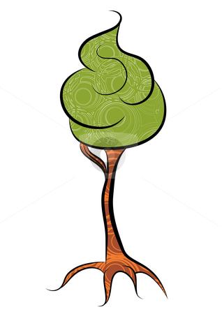 Tree stock vector clipart, Abstract foam tree, vector illustration by Milsi Art