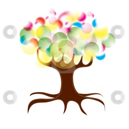 Tree stock vector clipart, Sunny summer tree, eps10 vector illustration by Milsi Art