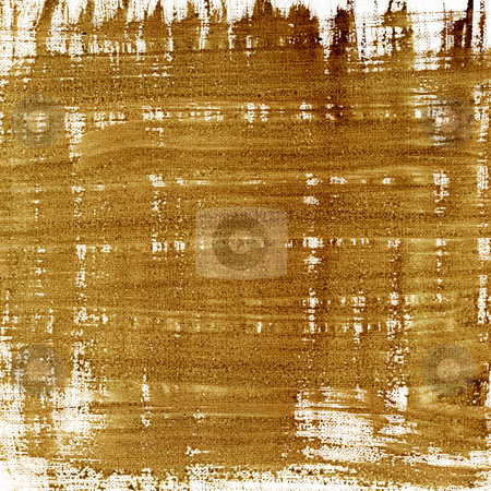 Brown abstract with canvas texture stock photo, Brown watercolor abstract painted on white artist canvas, self made by photographer by Marek Uliasz
