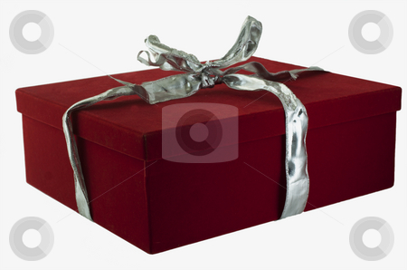 Gift stock photo, Red box containing a gift, isolated over white by Fabio Alcini