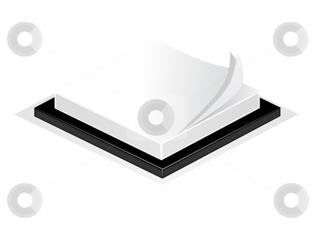 An illustration of a desk notepad or post it isolated on white  stock vector clipart, An illustration of a desk notepad or post it isolated on white by Mike Price