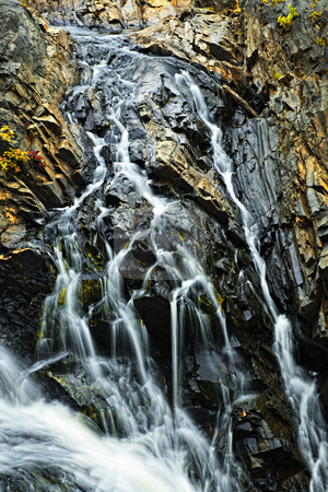 Waterfall in Northern Ontario, Canada stock photo, Waterfall cascading over rocks in Northern Ontario, Canada by Elena Elisseeva