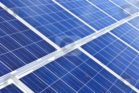 Solar panels stock photo, Array of alternative energy photovoltaic solar panels by Elena Elisseeva
