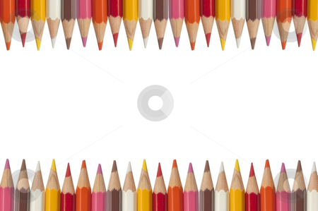 Colorful pencil as white isolate background stock photo, Colorful pencil as white isolate background by Udomsak Insome