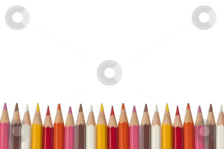 Colorful crayon as white isolate background stock photo, Colorful crayon as white isolate background by Udomsak Insome