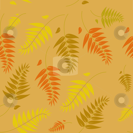 A seamless autumn vector background stock vector clipart, A seamless autumn vector background illustration which can be tiled. by Mike Price