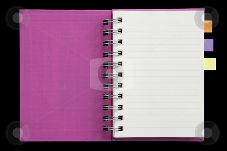 Post it on mini notebook fist page open stock photo, Post it on mini notebook fist page open by Udomsak Insome
