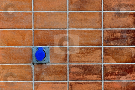 The wall stock photo, The wall as electric plug by Udomsak Insome