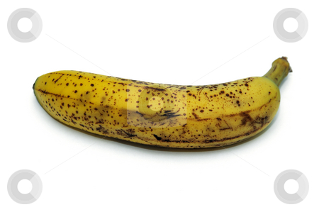 Banana stock photo, Ripe banana isolated on a  white background by Arvind Balaraman