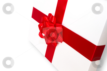 Gift boxes stock photo, White gift boxes isolated on the white background by Mariusz Blach